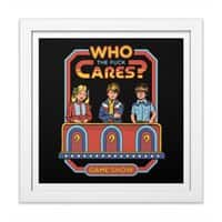 Who Cares? - white-square-framed-print - small view