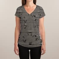 Floorboards - womens-sublimated-v-neck - small view
