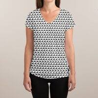 Mousetooth - womens-sublimated-v-neck - small view