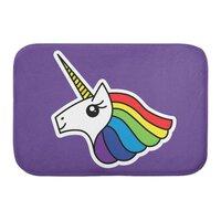 Team Rainbow Unicorn - bath-mat - small view