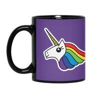 Team Rainbow Unicorn - black-mug - small view