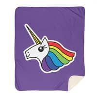 Team Rainbow Unicorn - blanket - small view