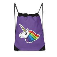 Team Rainbow Unicorn - drawstring-bag - small view