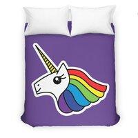 Team Rainbow Unicorn - duvet-cover - small view