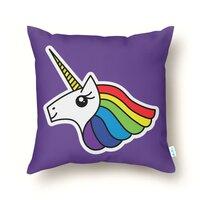 Team Rainbow Unicorn - throw-pillow - small view