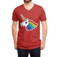 Team Rainbow Unicorn - vneck - small view