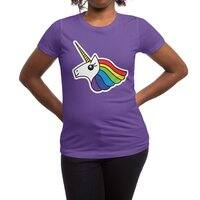 Team Rainbow Unicorn - womens-regular-tee - small view