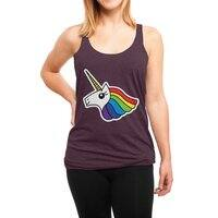 Team Rainbow Unicorn - womens-triblend-racerback-tank - small view