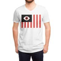 Stares and Stripes - vneck - small view