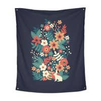 In Bloom - indoor-wall-tapestry-vertical - small view
