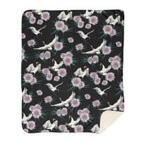 Crane Floral - blanket - small view