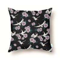 Crane Floral - throw-pillow - small view