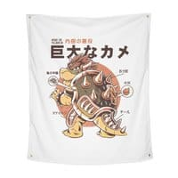 Bowserzilla - indoor-wall-tapestry-vertical - small view