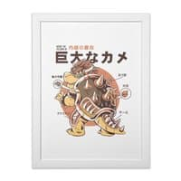 Bowserzilla - white-vertical-framed-print - small view