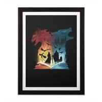 Book of Fire and Ice - black-vertical-framed-print - small view