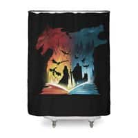 Book of Fire and Ice - shower-curtain - small view