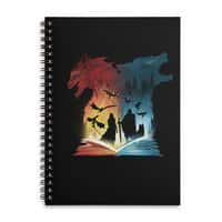 Book of Fire and Ice - spiral-notebook - small view
