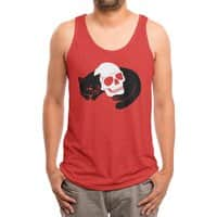 Spooky Cat - mens-triblend-tank - small view