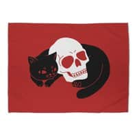 Spooky Cat - rug-landscape - small view