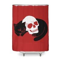 Spooky Cat - shower-curtain - small view