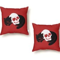 Spooky Cat - throw-pillow - small view