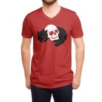 Spooky Cat - vneck - small view