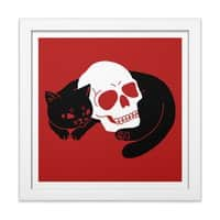 Spooky Cat - white-square-framed-print - small view