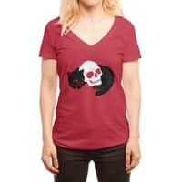 Spooky Cat - womens-deep-v-neck - small view