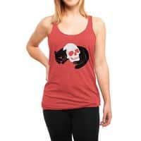 Spooky Cat - womens-triblend-racerback-tank - small view