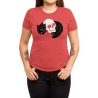Spooky Cat - womens-triblend-tee - small view