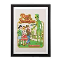 Don't Talk to Strangers - black-vertical-framed-print - small view