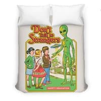 Don't Talk to Strangers - duvet-cover - small view
