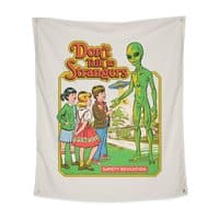 Don't Talk to Strangers - indoor-wall-tapestry-vertical - small view