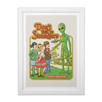 Don't Talk to Strangers - white-vertical-framed-print - small view