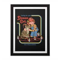 Caring for Your Demon Cat - black-vertical-framed-print - small view