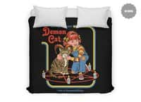 Caring for Your Demon Cat - duvet-cover - small view