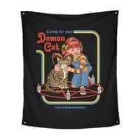 Caring for Your Demon Cat - indoor-wall-tapestry-vertical - small view
