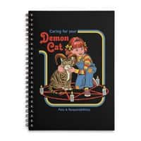 Caring for Your Demon Cat - spiral-notebook - small view