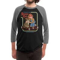 Caring for Your Demon Cat - triblend-34-sleeve-raglan-tee - small view