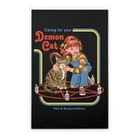 Caring for Your Demon Cat - vertical-stretched-canvas - small view