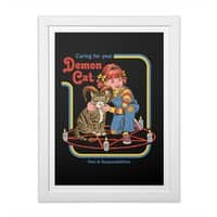 Caring for Your Demon Cat - white-vertical-framed-print - small view