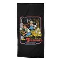 Let's Dig for Treasure - beach-towel - small view
