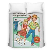 Let's Run Away - duvet-cover - small view