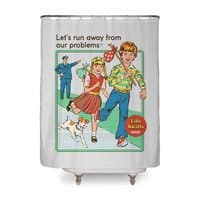 Let's Run Away - shower-curtain - small view
