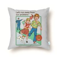 Let's Run Away - throw-pillow - small view