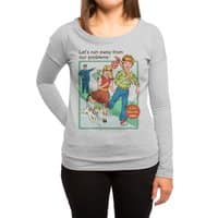 Let's Run Away - womens-long-sleeve-terry-scoop - small view