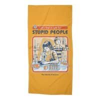A Cure for Stupid People - beach-towel - small view