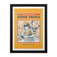 A Cure for Stupid People - black-vertical-framed-print - small view