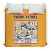 A Cure for Stupid People - duvet-cover - small view