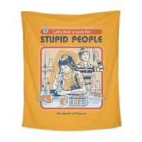 A Cure for Stupid People - indoor-wall-tapestry-vertical - small view
